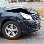 Unfallauto am Unfallort